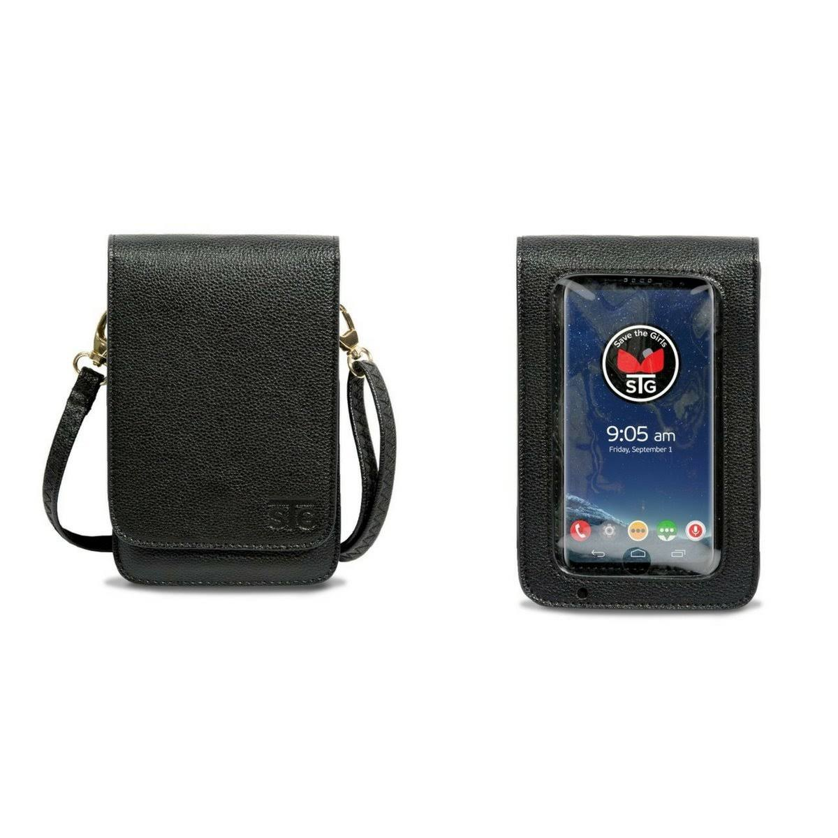 Metro Cell Phone Wallet Purse With Extra Deep Pocket - Black