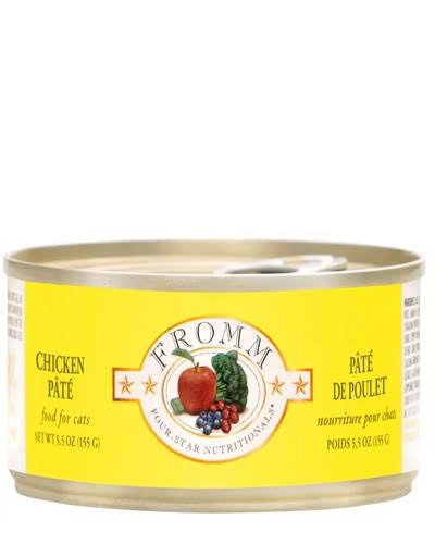 Fromm Four Star Grain Free Chicken Pate Canned Cat Food, 5.5 oz.