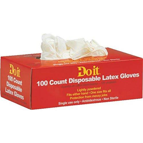 Do it Disposable Latex Gloves - 100 ct