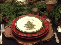 Spode Christmas Tree by Paperwhites On The Dining Room Table