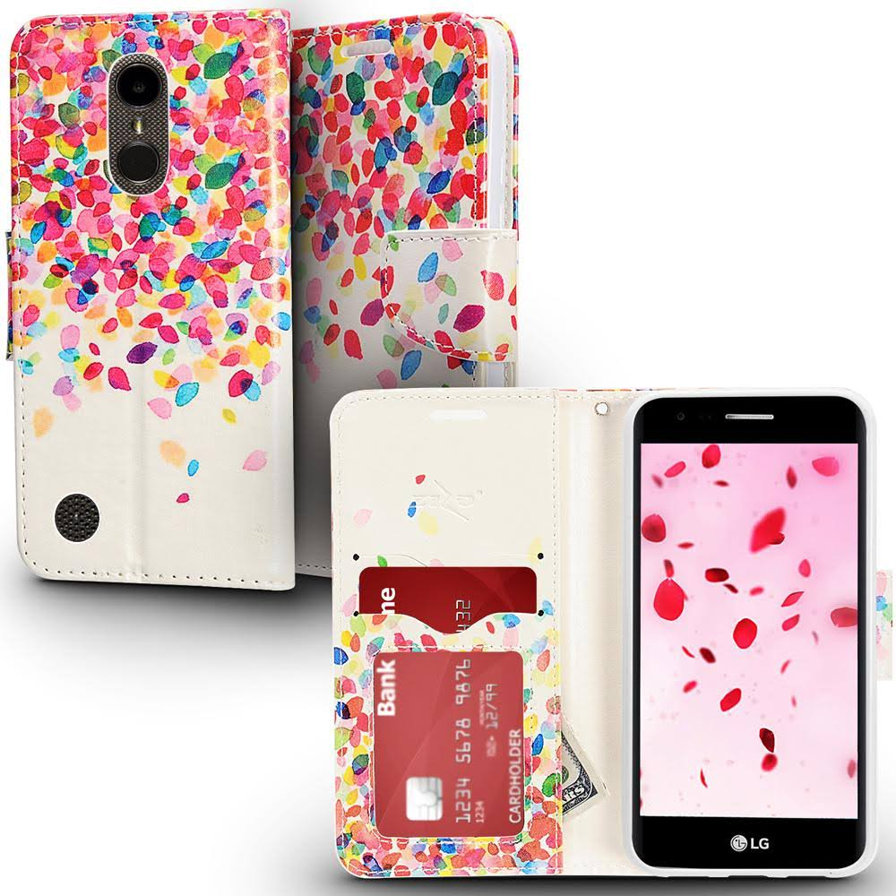 LG Aristo 2 - Owl Love Design Wallet Flap Pouch with TPU, Multi-color