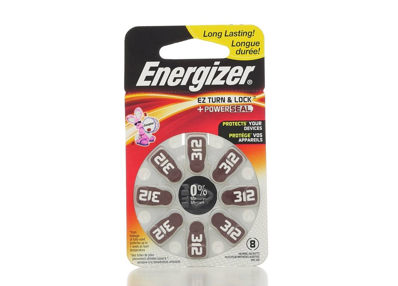 Energizer Zinc Air Hearing Aid Battery - 8 Pack, 1.4V