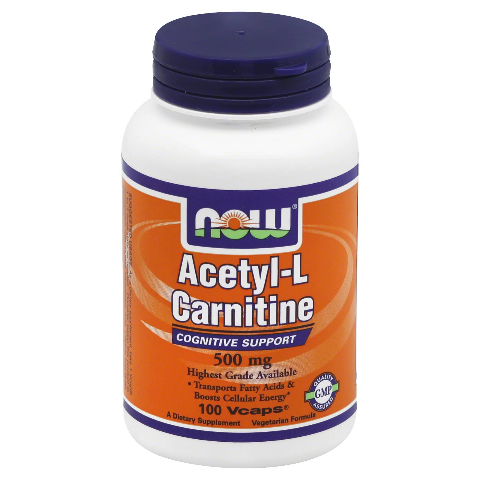 Now Foods Acetyl L-Carnitine 500mg - 100 Capsules