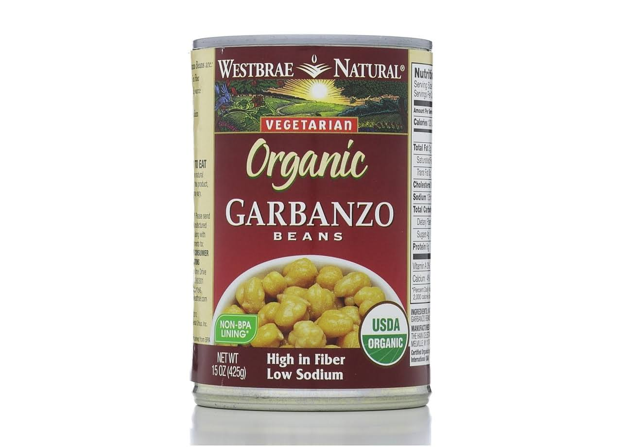 Westbrae Natural Garbanzo Beans, Low Sodium, Organic - 15 oz