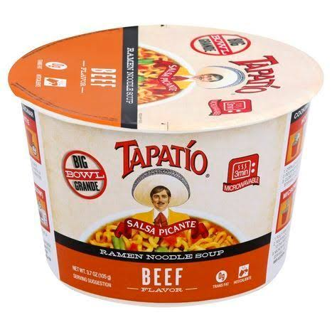 Tapatio Ramen Noodle Soup - Big Bowl, 105g, Beef
