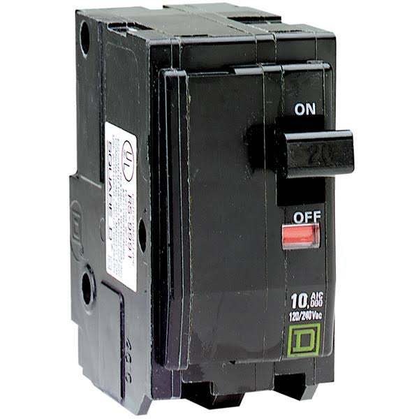 Square D Two-Pole Circuit Breaker - 40A