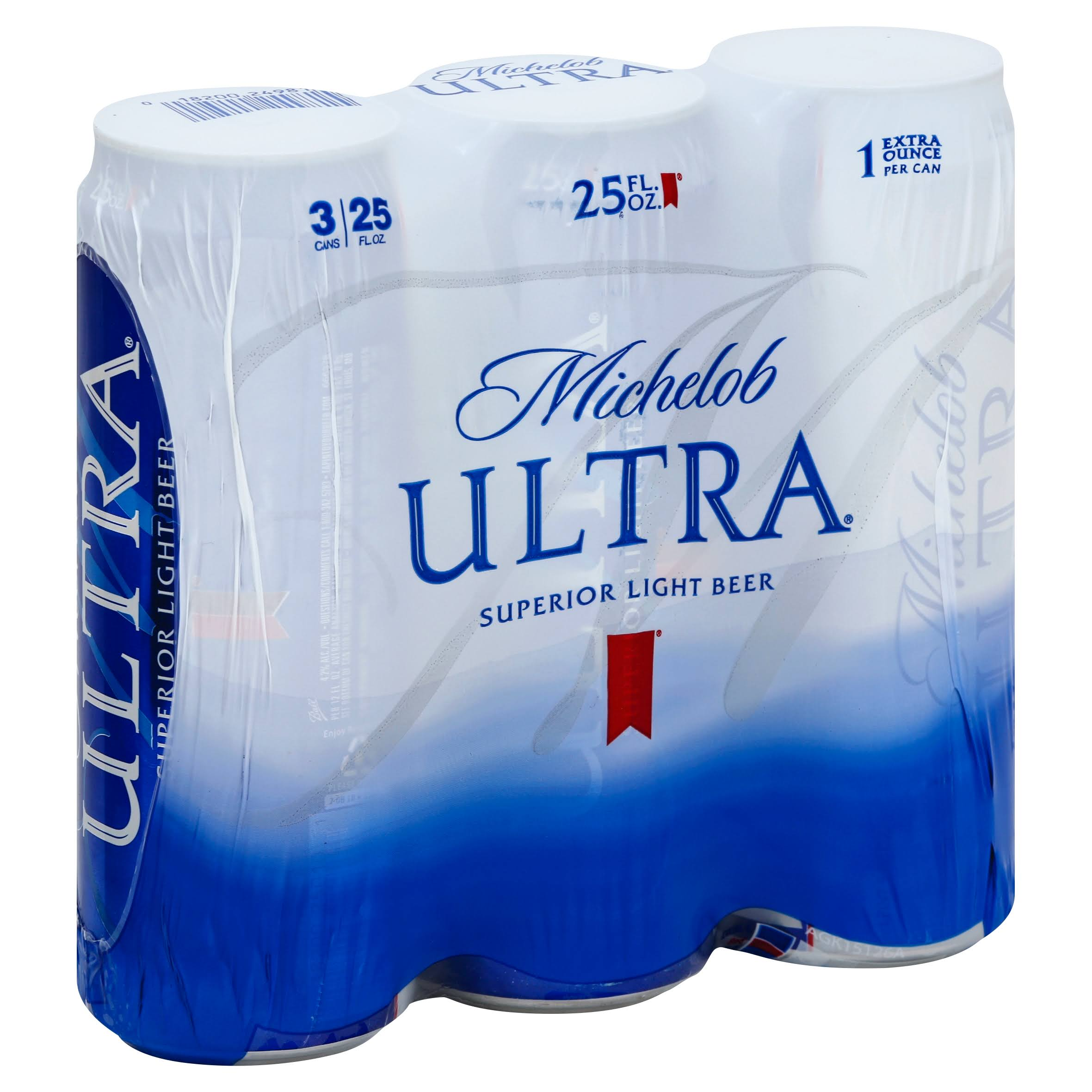 Michelob Ultra Beer - 3 x 25 fl oz