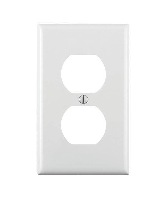Leviton 80703-W 1-Gang Duplex Device Receptacle Wallplate