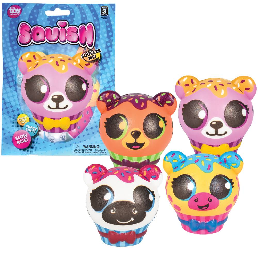 "Adventure Planet 3.5"" Squish Zoo Animal Cupcake Assorted Styles"