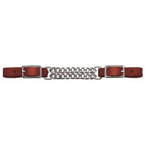 Weaver Leather Llc Horse Curb Strap - Double Flat Link, Mahogany Leather, 5/8""