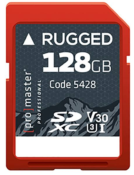 ProMaster 128GB SDXC UHS-I Rugged Memory Card
