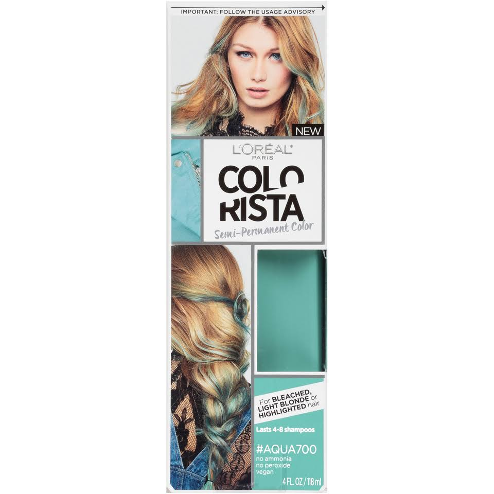 L'Oréal Paris Colorista Semi-Permanent Color - Aqua700, 4oz