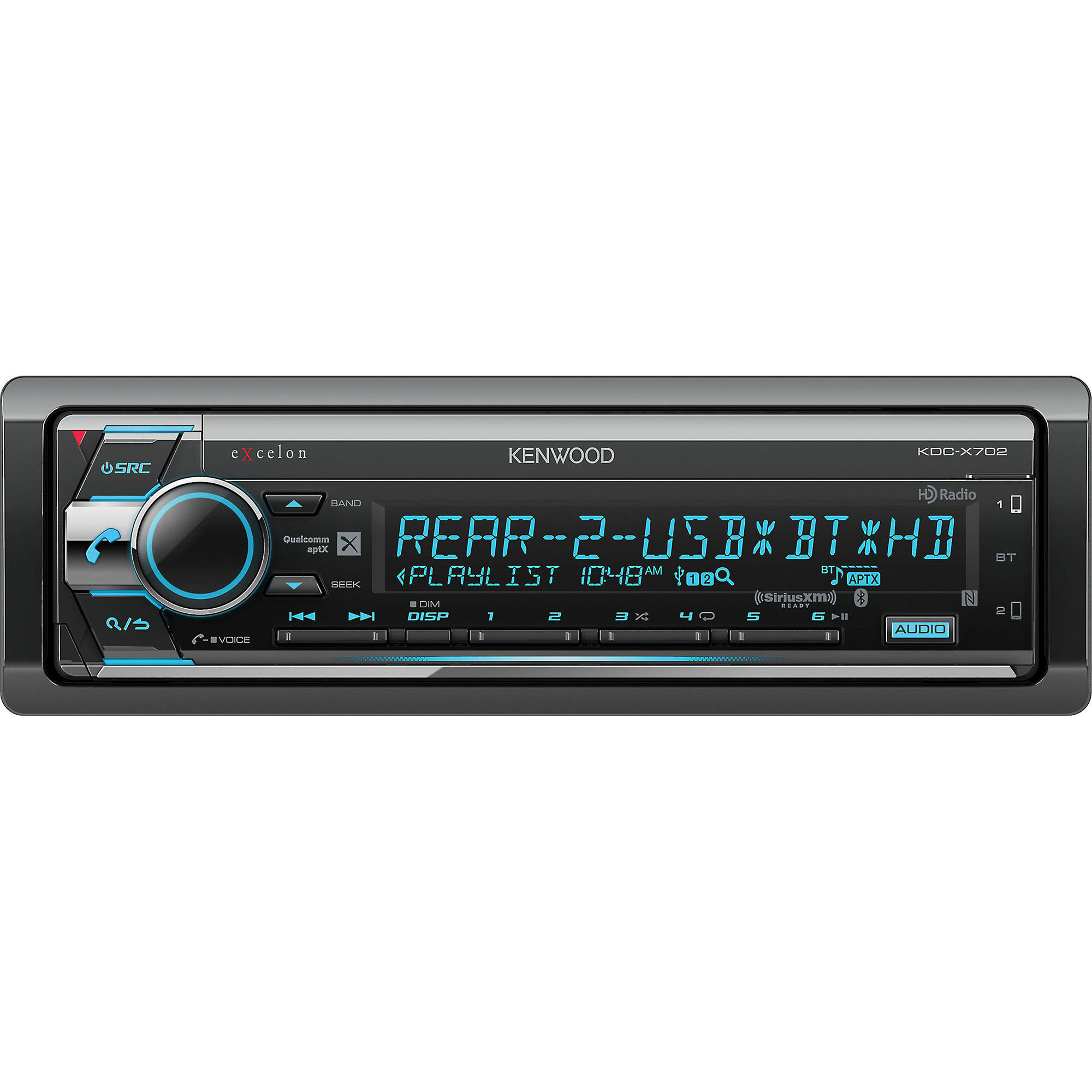 Kenwood KDC-X702 CD Receiver - with Bluetooth and HD Radio