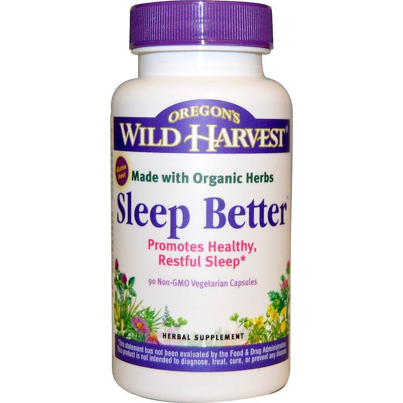 Oregons Wild Harvest Sleep Better Organic Supplement - 90 Vegetarian Capsules