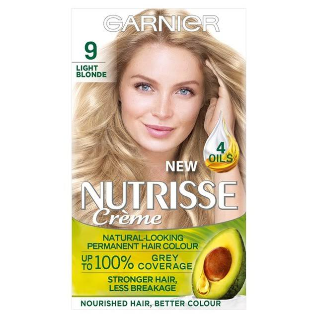 Garnier Nutrisse Permanent Hair Dye - 9 Light Blonde
