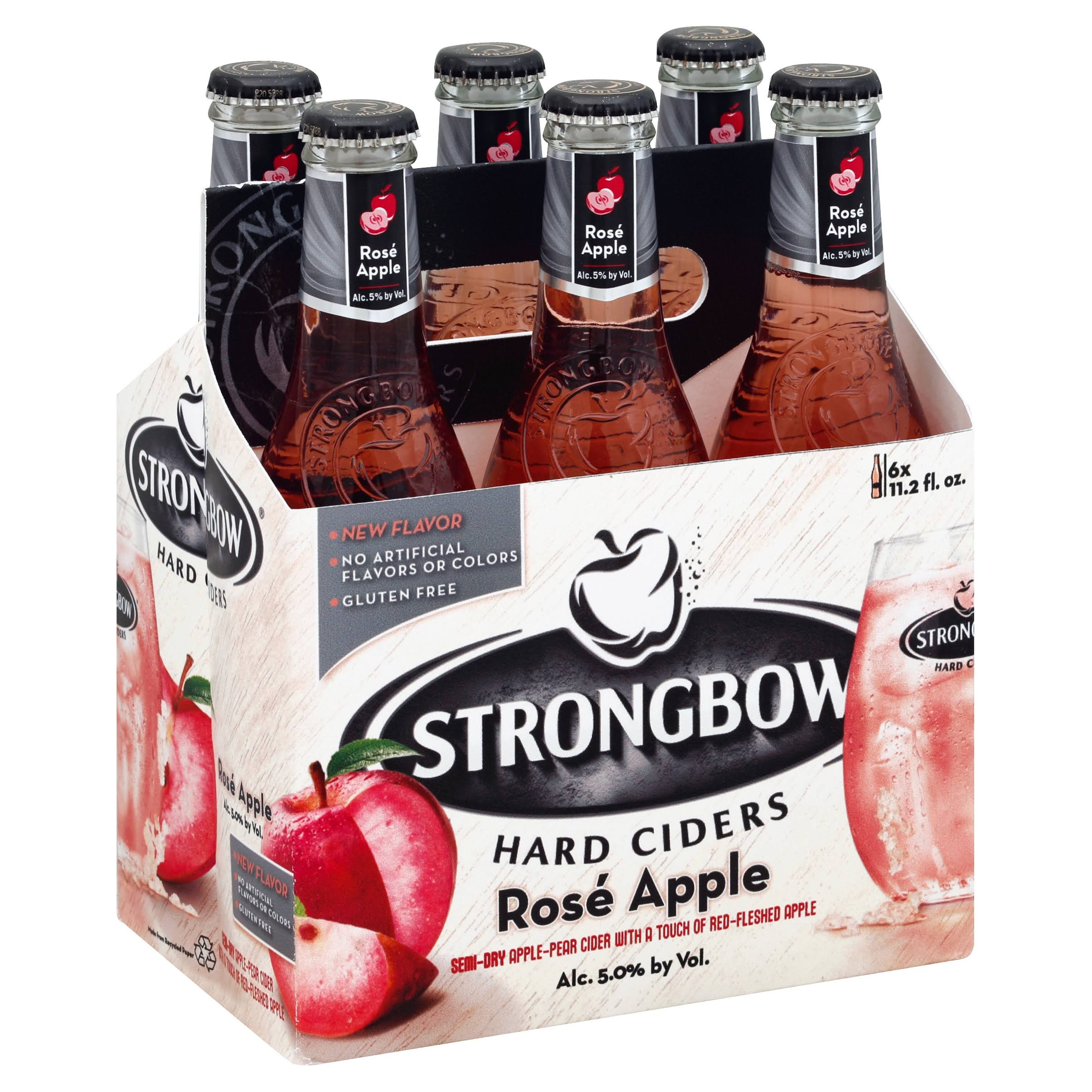 Strongbow Hard Ciders, Rose Apple - 6 pack, 11.2 fl oz bottles