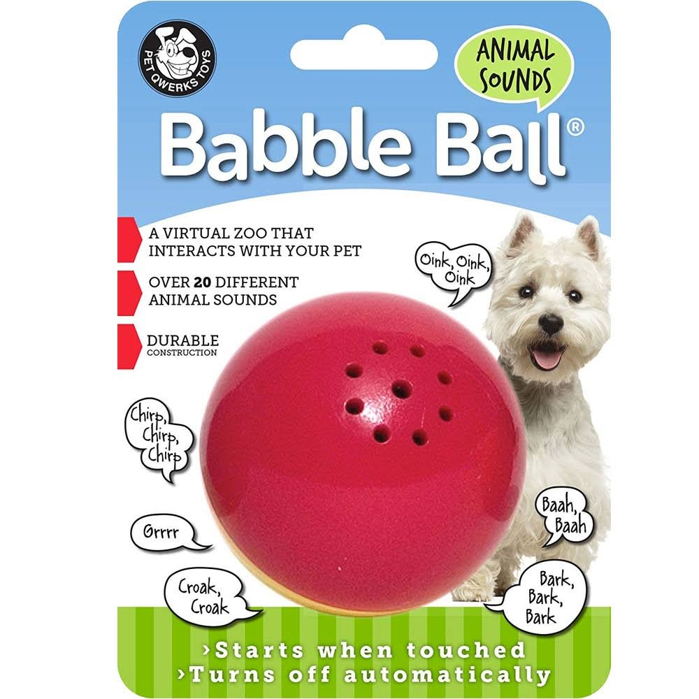 Pet Qwerks Toys Babble Ball