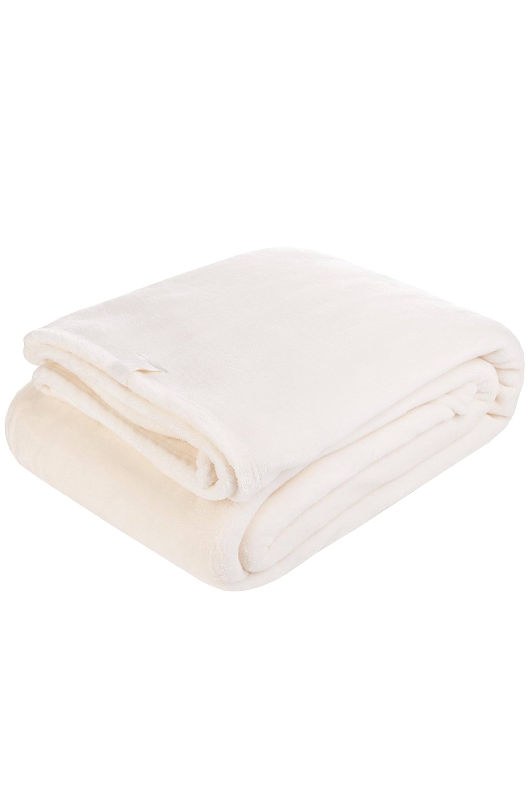 Heat Holder Thermal Soft Fleece Blanket - Cream