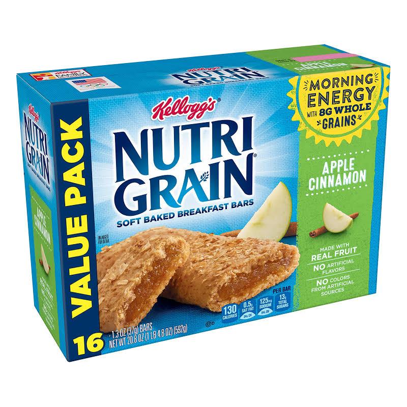 Nutri Grain Soft Baked Apple Cinnamon Breakfast Snack Bars Value Pack
