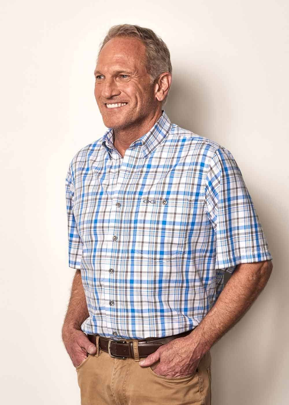 GameGuard Pacific Blue Plaid Shirt MD