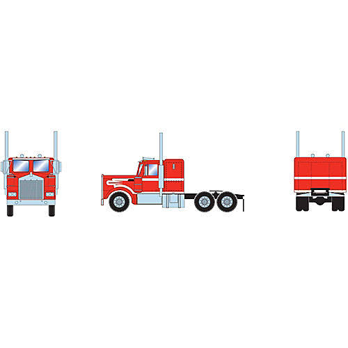 Athearn - HO RTR Kenworth Tractor, Red/White - 92654