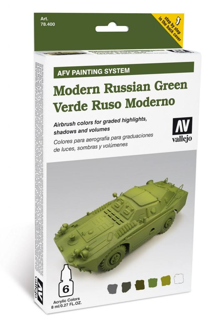 Vallejo Armour Set - AFV Modern Russian Green