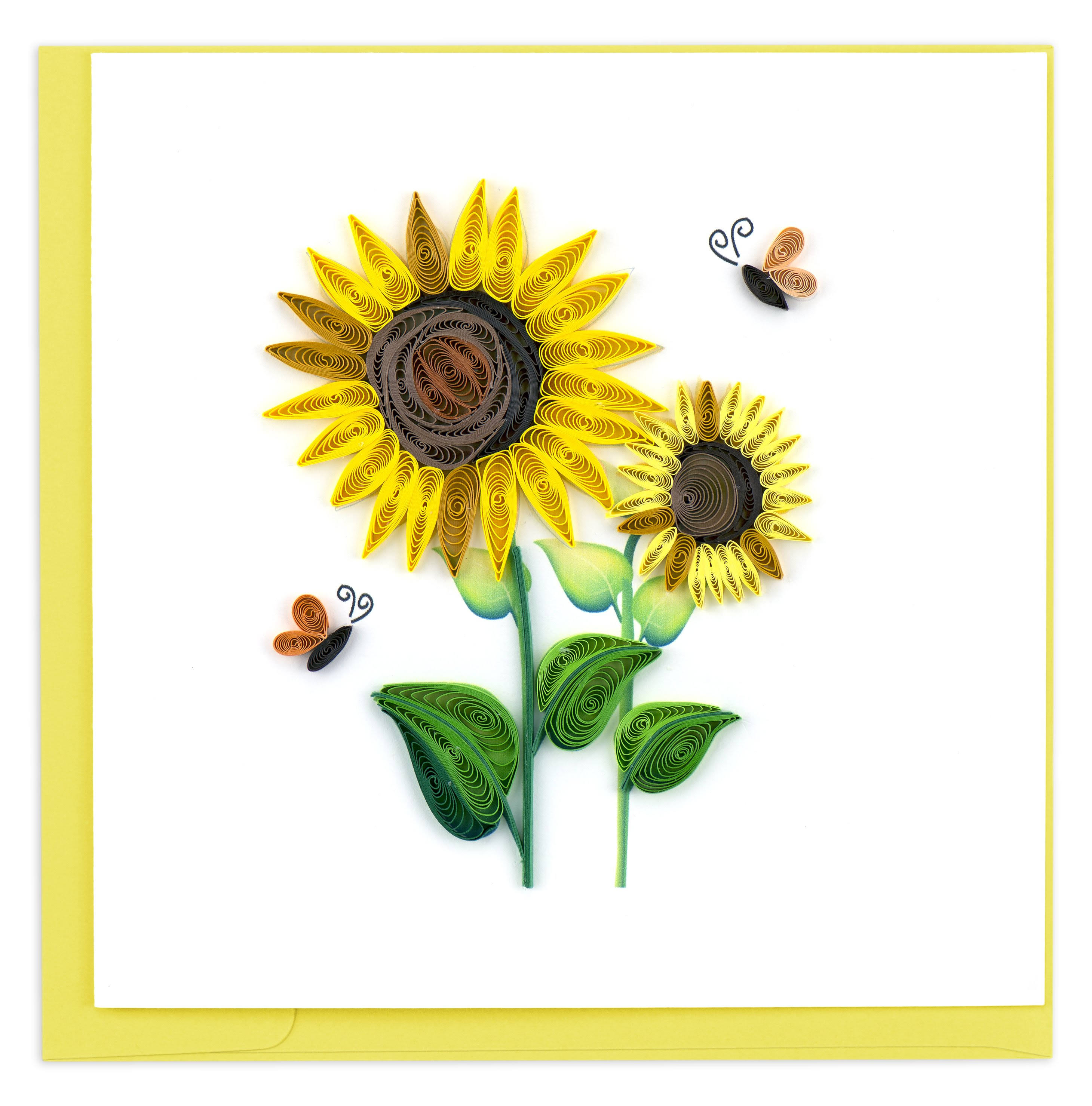 Quilling Card Sunflowers with Butterfly