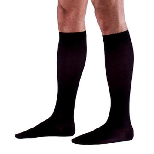 Sigvaris Men's 970 Access Series Closed Toe Knee High Sock Size - Black, 20-30mmhg, X-Large Long