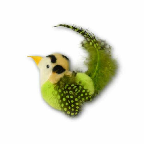 Our Pets Realbird Green Cat Toy with Catnip and Real Bird Sounds