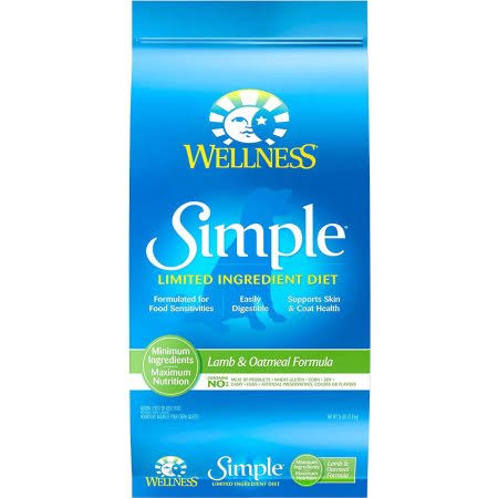 Wellness Simple Limited Ingredient Diet Dry Dog Food - Lamb and Oatmeal, 26lbs