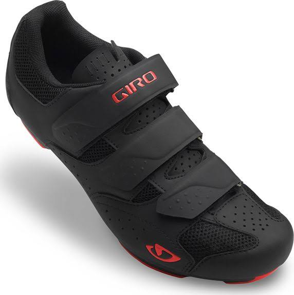 Giro Men's Rev Road Cycling Shoe - Black & Red, EU46