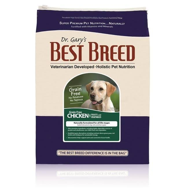 Dr. Gary's Best Breed Grain Free Holistic Chicken with Fruits & Vegetables Dry Dog Food 4-lb
