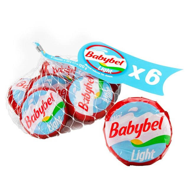 Babybel Light Cheese Snacks - 6pcs