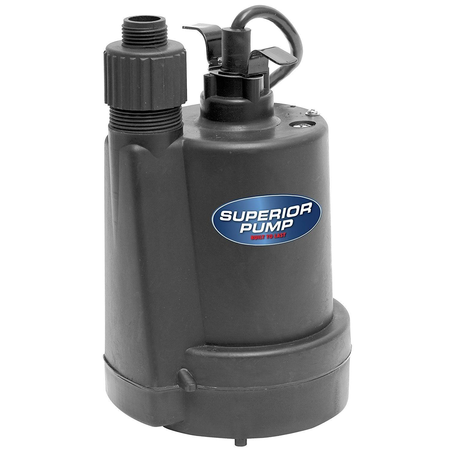Superior Pump Thermoplastic Submersible Utility Pump - 1/4 HP