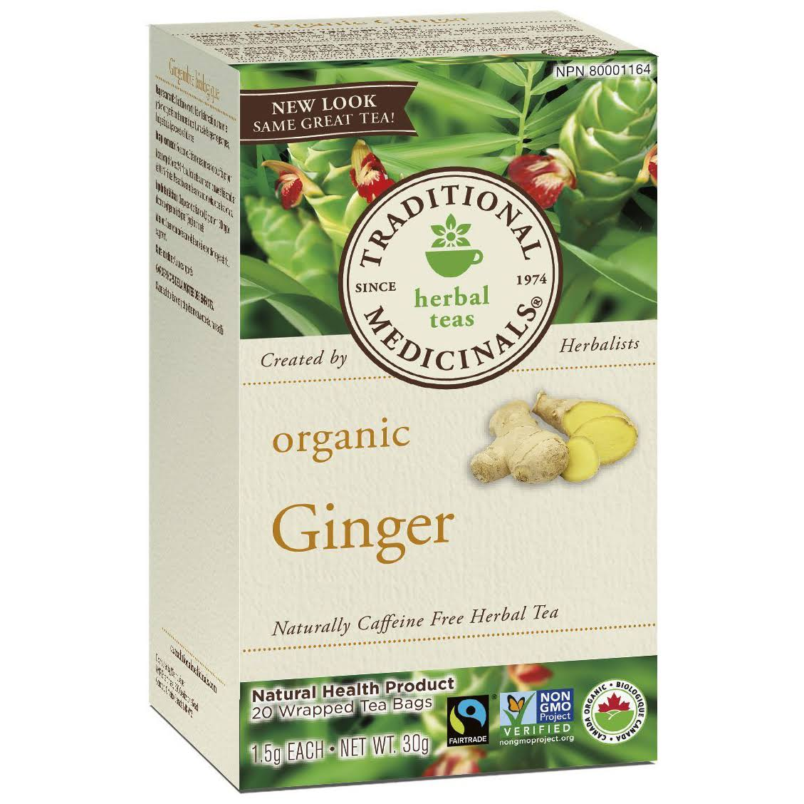 Traditional Medicinals Organic Tea - Ginger, 24g