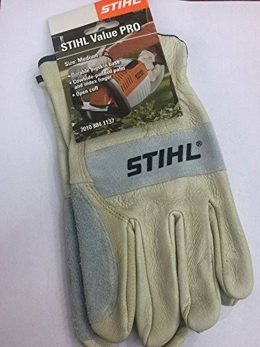 Stihl Value Pro Durable Natural Skin Work Gloves, Large, Size: One Size
