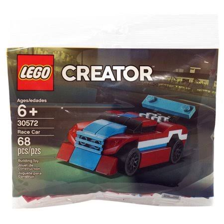 Lego Creator Race Car Polybag Building Complete Set - Red/White/Blue, 68pc
