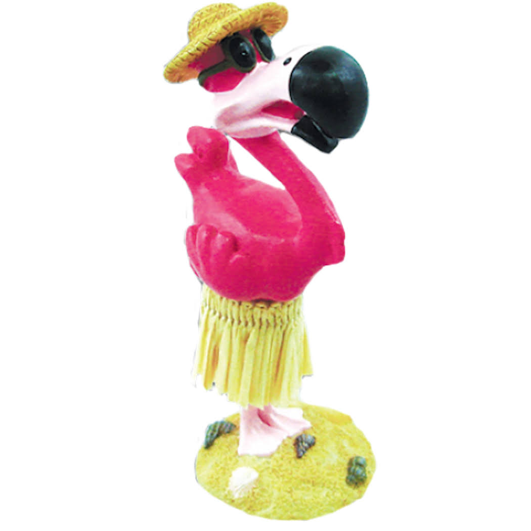 KC Hawaii Hula Flamingo Mini Dashboard Doll - 4.3""