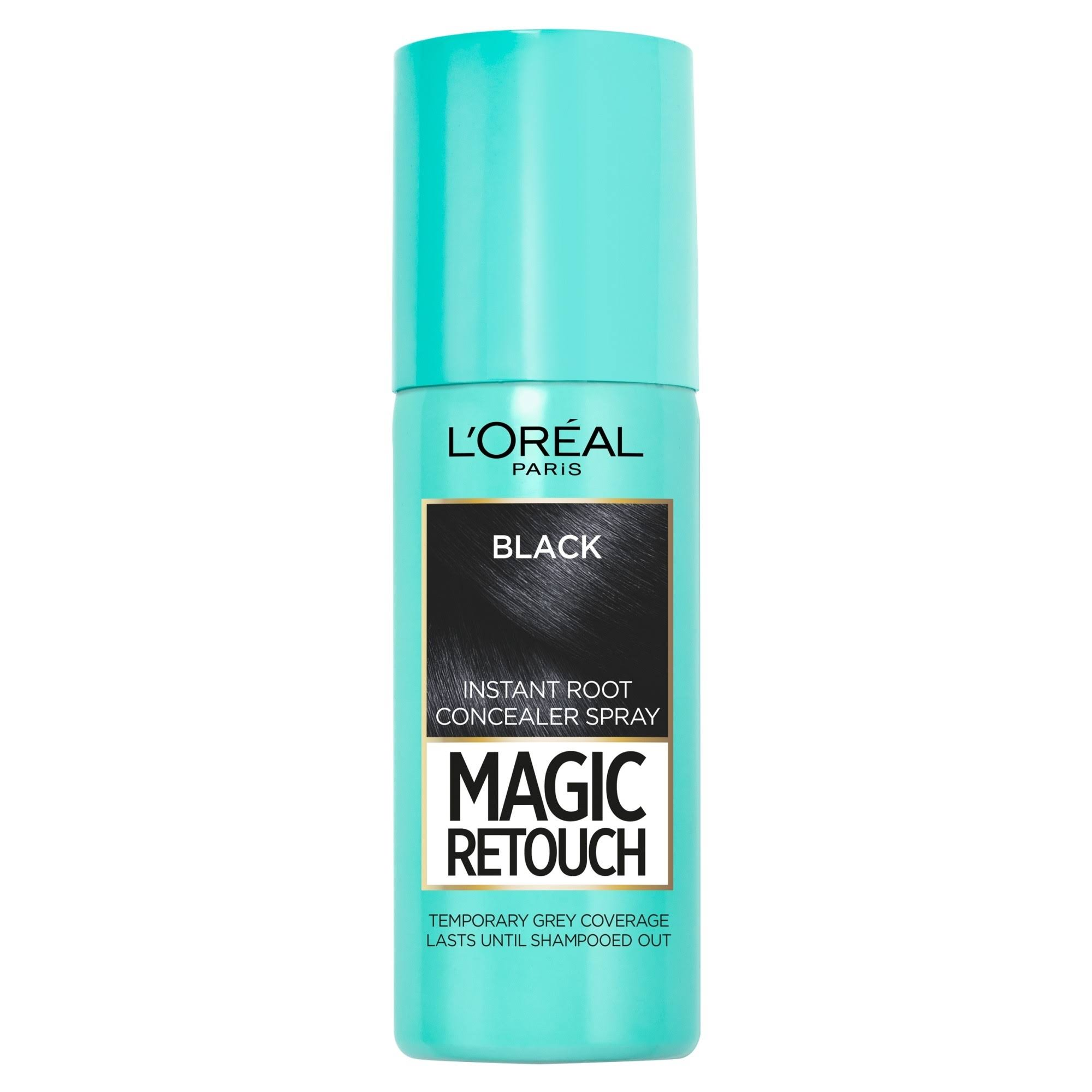 L'Oreal Magic Retouch Temporary Instant Grey Root Concealer Spray - Black, 75ml