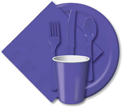 Creative Converting Paper Luncheon Plate - Purple, 7""