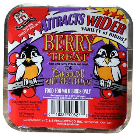 C & S Products Berry Treat Wild Bird Suet - 0.7lb