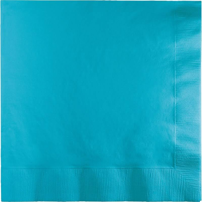 Creative Converting Touch of Color Paper Lunch Napkins - 3 Ply, Bermuda Blue, 50ct