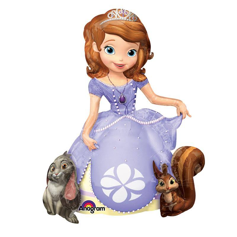 Amscan Sofia The First Airwalkers Foil Balloons - 37""