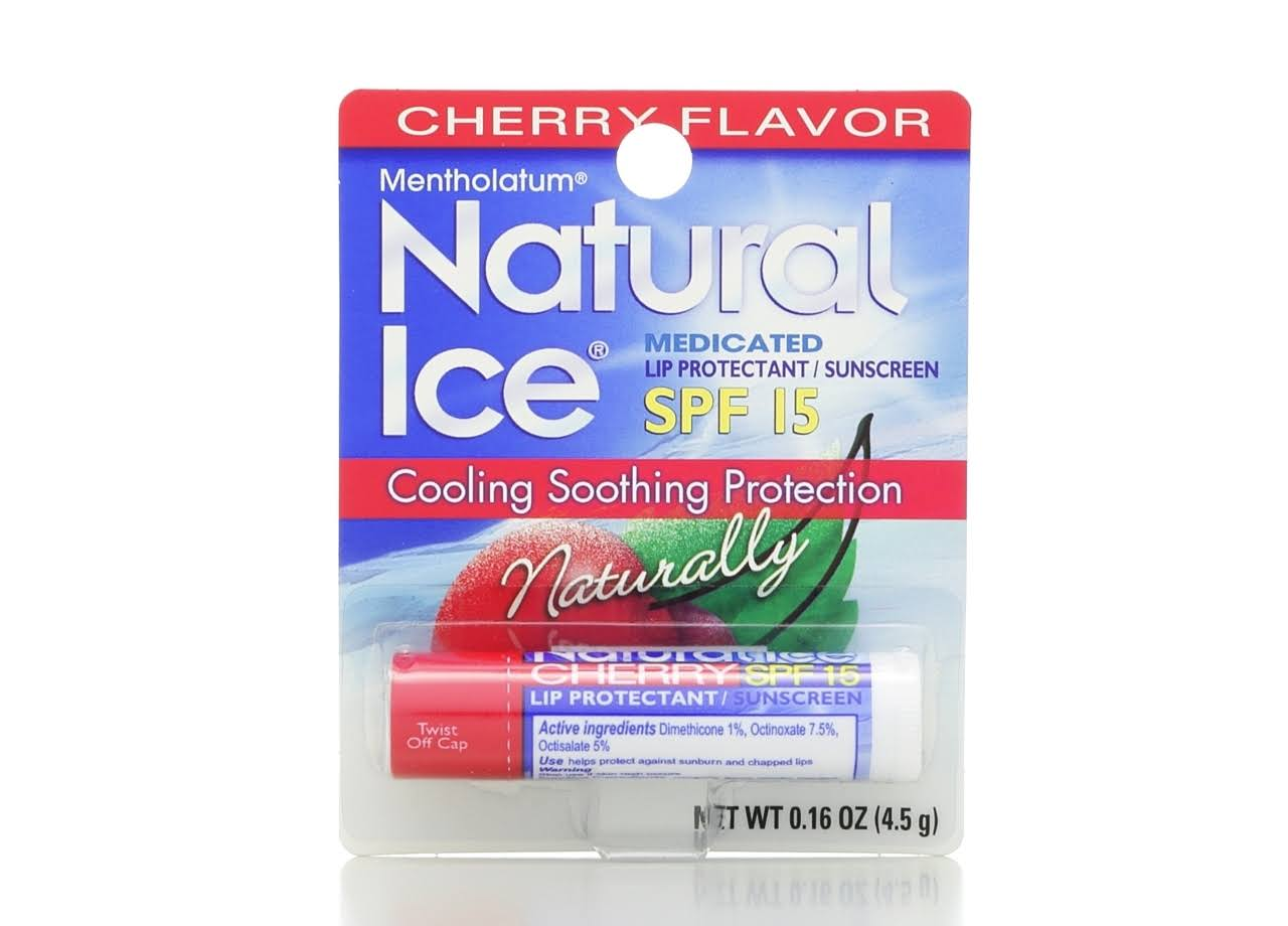 Natural Ice Lip Protectant / Sunscreen - Cherry Flavor