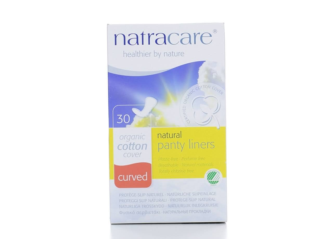 Natracare Curved Organic Cotton Pantyliners - 30 Pantyliners