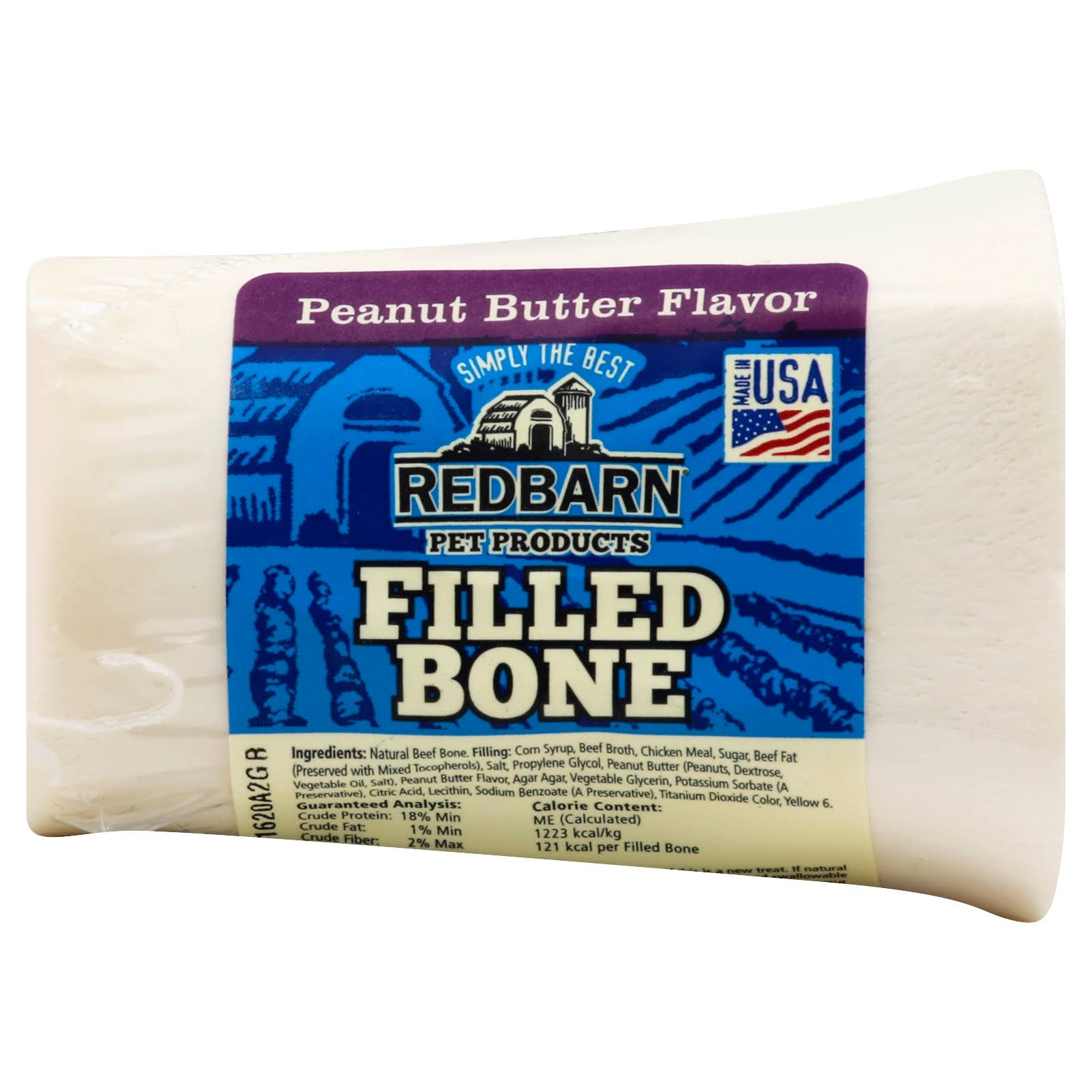 Redbarn Pet Products Filled Bone - Peanut Butter, Small