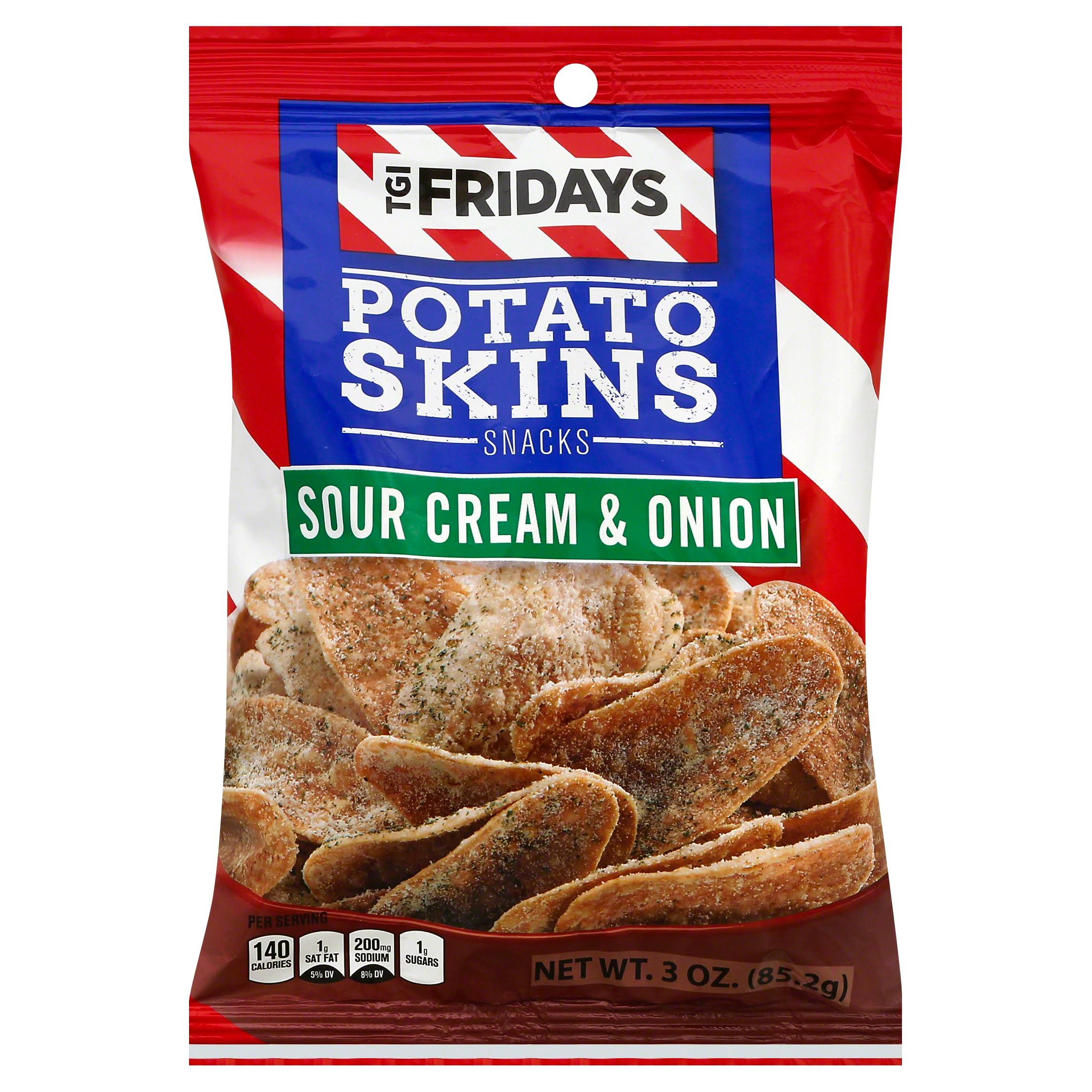 TGI Fridays Potato Skins Snacks, Sour Cream & Onion - 3 oz