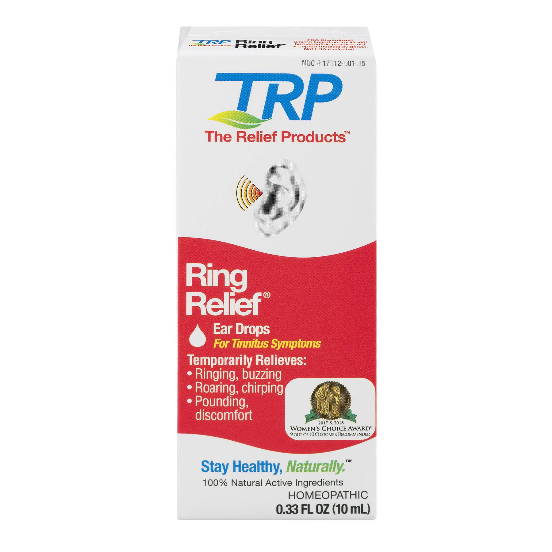 TRP Ring Relief Homeopathic Ear Drops - 10ml