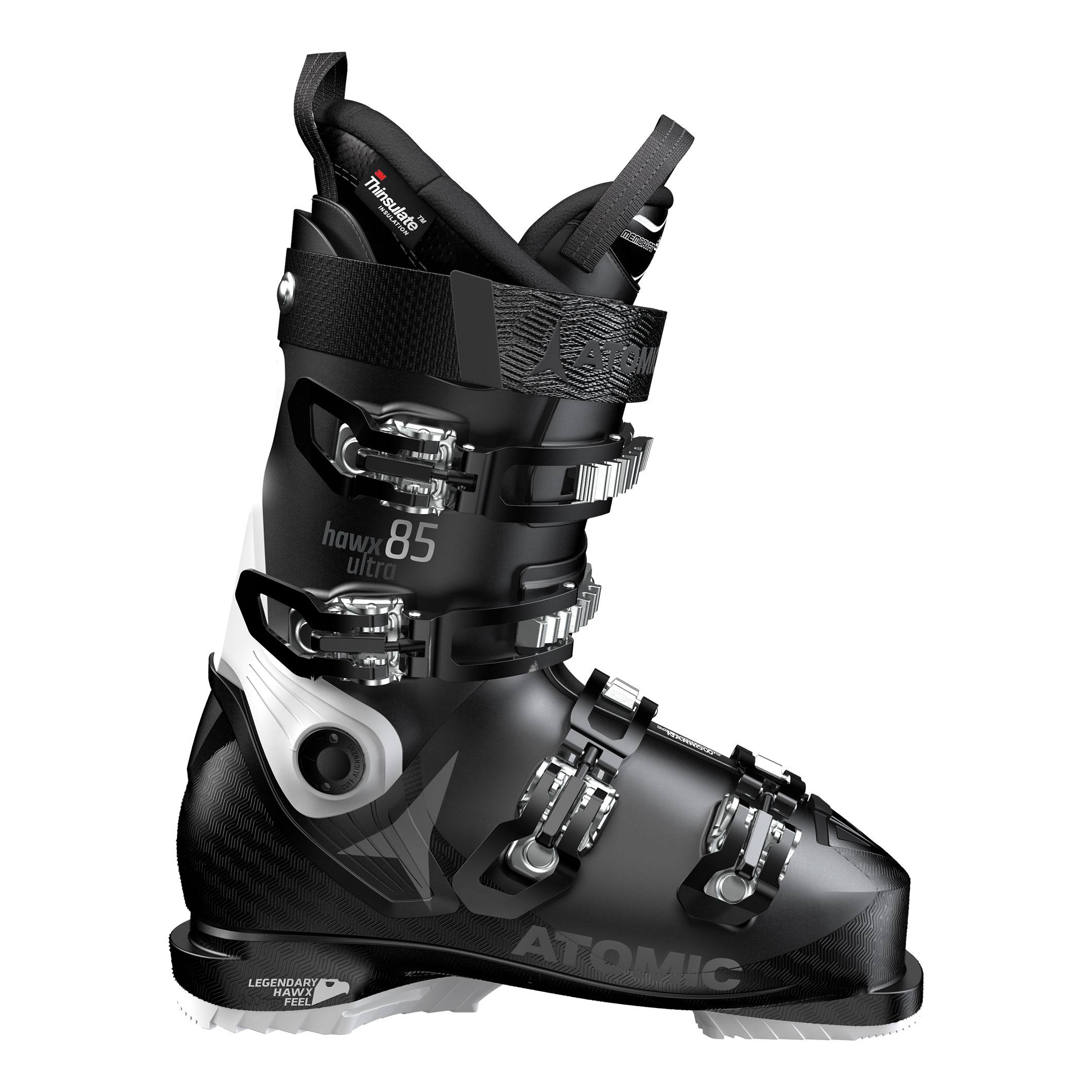 Atomic Women's Hawx Ultra 85W Ski Boots - Black and White, Size 24/24.5