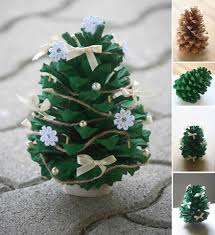 Pine Cone Christmas Trees For Sale by 16 Absolutely Adorable Diy Christmas Decorations Organics